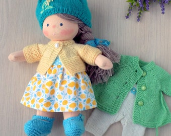 "10"" Soft Woolen Waldorf doll ""Little Mi"" Gift for girl"