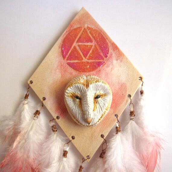 OWL WALL ART - Handmade Sculptural Wall Art Piece