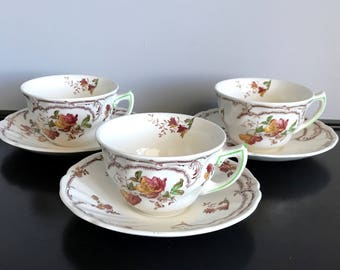 Vintage Royal Doulton Chiltern Cup and Saucer - 3 Available!!