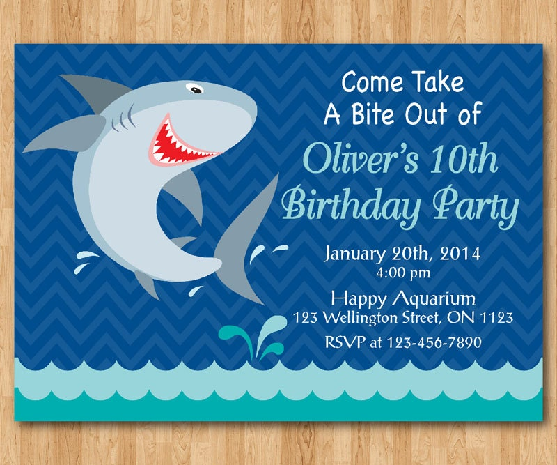 Shark birthday invitation shark theme birthday party invite zoom filmwisefo