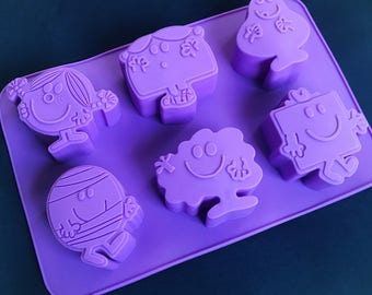 Mr Men Flexible Silicone Silicon Soap Molds Cake Molds Chocolate