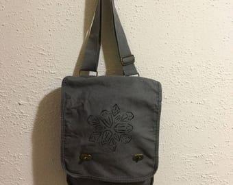 Crystal Cluster   Hand-Painted Messenger Bag