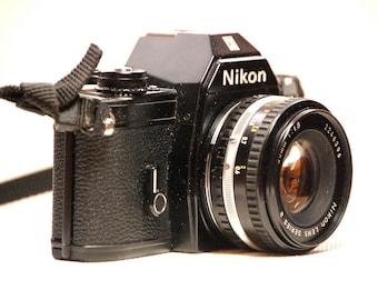 Vintage Black Nikon EM 35mm Camera