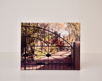 Gated Passage : Decorative Photography Tile 8x10