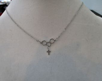 Silver Cross Necklace - Pendant Necklace - Mimimalist Necklace - Religious Jewelry - Religious Gifts