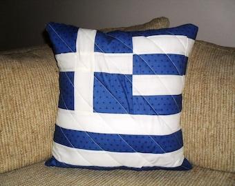 Greece Flag Pillow