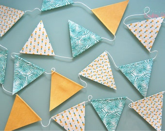 Jungle pineapple Garland - recycled paper