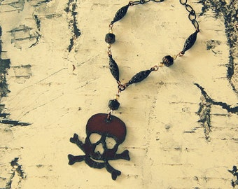Skull And Crossbones Jewelry, Skull And Crossbones Necklace, Pirate Gifts, Pirate Accessories, Pirate Garb, Lost Treasures Line