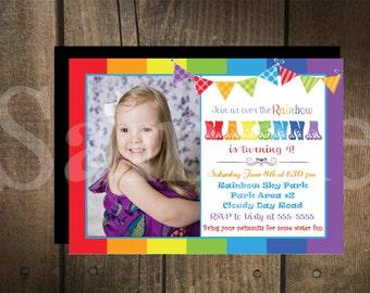Custom Rainbow Invitation