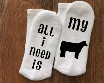 Show Steer, Steer Show, Cow Socks, Steer Socks, Show Steer Gift, Cattle Lover Gift, If You Can Read This, 4H, 4-H, FFA, Show Life,