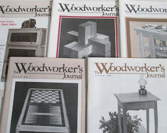 The Woodworker's Journal Magazine, Vintage Lot, Volume 9 Issues 1 2 3 4 5, Year 1985, Tutorials Projects, DIY How To Guide