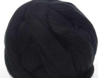 Merino Wool Top - 22.5 micron -Raven - 4 ounces