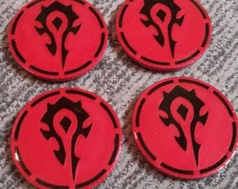 Set of 4 Horde 3D Printed Coasters