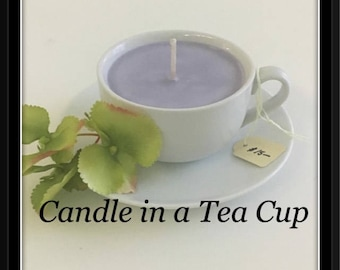 Candle in a Tea Cup - Hand poured