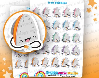 25 Cute Iron/Chores/Laundry Planner Stickers, Filofax, Erin Condren, Happy Planner,  Kawaii, Cute Sticker, UK