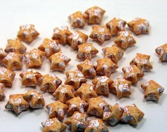 Tiny Orange Taurus Lucky Stars