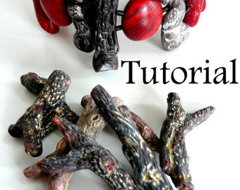TUTORIAL--Faux Twigs in Polymer Clay
