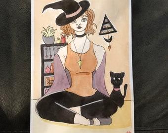 Summer solstice witch - original