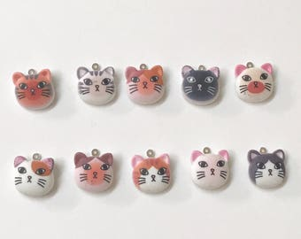 Cat Face Stitch Marker for Knitting or Crochet