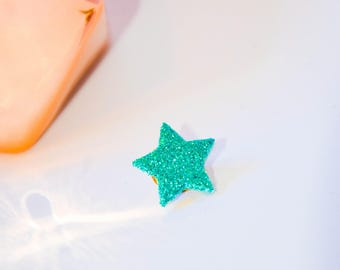 Pin's star spangled Turquoise sky blue