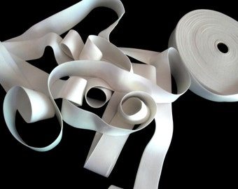 """5 or 10 Yards of 1.5"""" or 1 1/2"""" Wide Off White Elastic for Sewing Stretch Belts Lingerie Undergarment Elastic Yardage ST"""