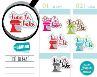 Baking stickers time to bake mixer stickers baker stickers baking tracking cake baker stickers removable sticker for kikki k filofax S090-BA