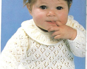 Vintage 1970's baby knitting pattern for download