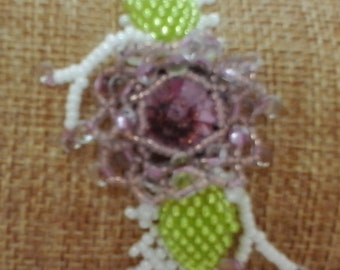 Flower seed bead necklace