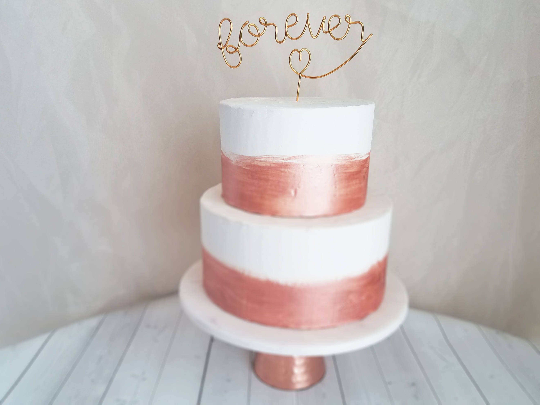 Forever Wire Cake Topper Rustic Cake Topper Wire Cake