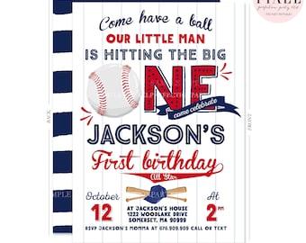 Baseball Birthday Invitation Baseball Invitation Baseball