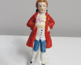 Antique Porcelain Figurine Colonial Gentleman Japan