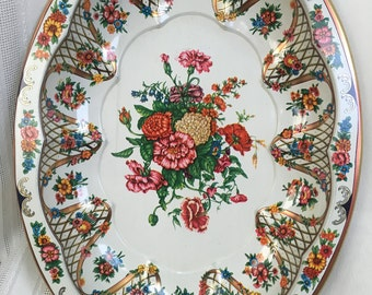 Vintage Daher Decorated tray from the 1970s