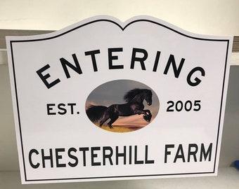 Custom Farm/Stable Signs