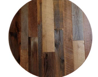 Great Round Table Round Reclaimed Table Rustic Table 36 Inch Round Table 42 Inch Round  Table 48