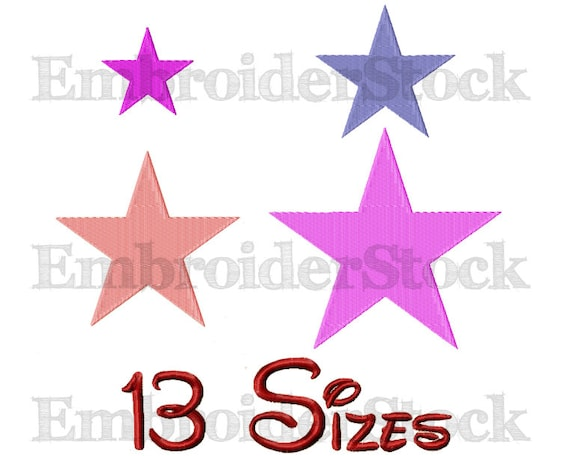 Star Machine Embroidery Star Embroidery Design Stars Pattern 13
