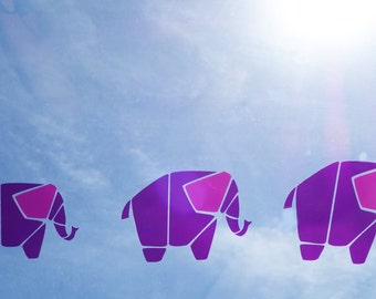 Elephant decor - nursery decor - play rooms, kid rooms or day cares - Colorful clings - Home Decor