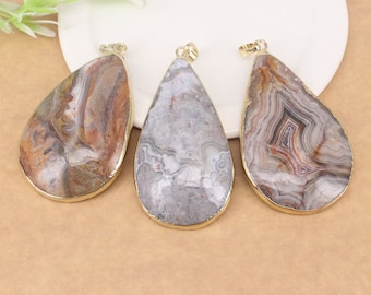 5pcs Fashion Natural fynchenite Agate Pendant,Agate Gemstone Drop Pendant, For Making Jewelry findings