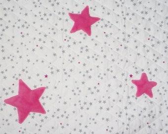 Velvet quilted blanket, stars
