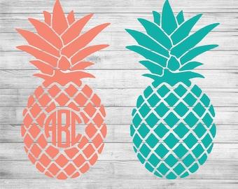 Pineapple Monogram Decal, Yeti Decal, Laptop Decal, Phone Decal, Macbook Decal, Monogrammed Sticker, Car Decal, Monogram Sticker, iPad Decal
