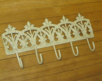 SALE!! Coat Rack , Cast Iron Hook Rack , Coat Hook Rack ,Backpack Hooks , Shabby Chic Coat Rack