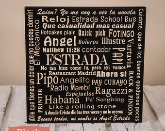 Christmas Gifts Personalized Word Collage Engraved on Wood - Christmas Gift For Women - Word Art-Custom Word Art - Family Christmas Gift