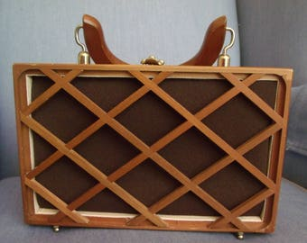 Pocketbook-Wooden Lattice Style