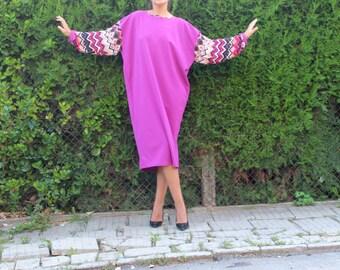 Midi dress, Purple dress, Midi tea dress, Midi long sleeve dress, maxi dress, Casual midi dress, Loose fit dress, casual dress, day dress
