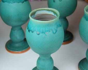 Wine Goblet in Turquoise - Made to Order