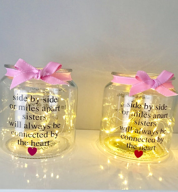 Gifts for sister side by side or miles apart sister birthday like this item negle Gallery