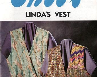 Uncut GHEE'S LINDA'S VEST Pattern #693 Sizes Small - X-Large Design A Vest 1993 Vintage Sewing