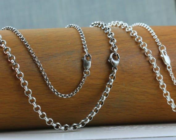 Quality Sterling Silver Ladies Belcher Chain 18 2vbGr