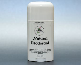All Natural Deodorant - Aluminum Free Deodorant with Shea Butter and Essential Oils