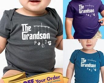 grandson shirt or bodysuit (romper) with mobile toys  |  great gift for grandson!