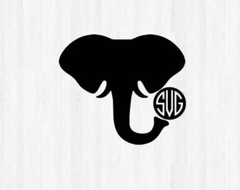 Elephant Monogram SVG